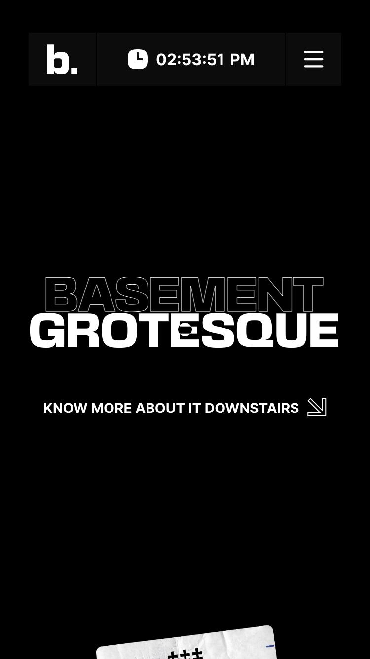 basement grotesque website