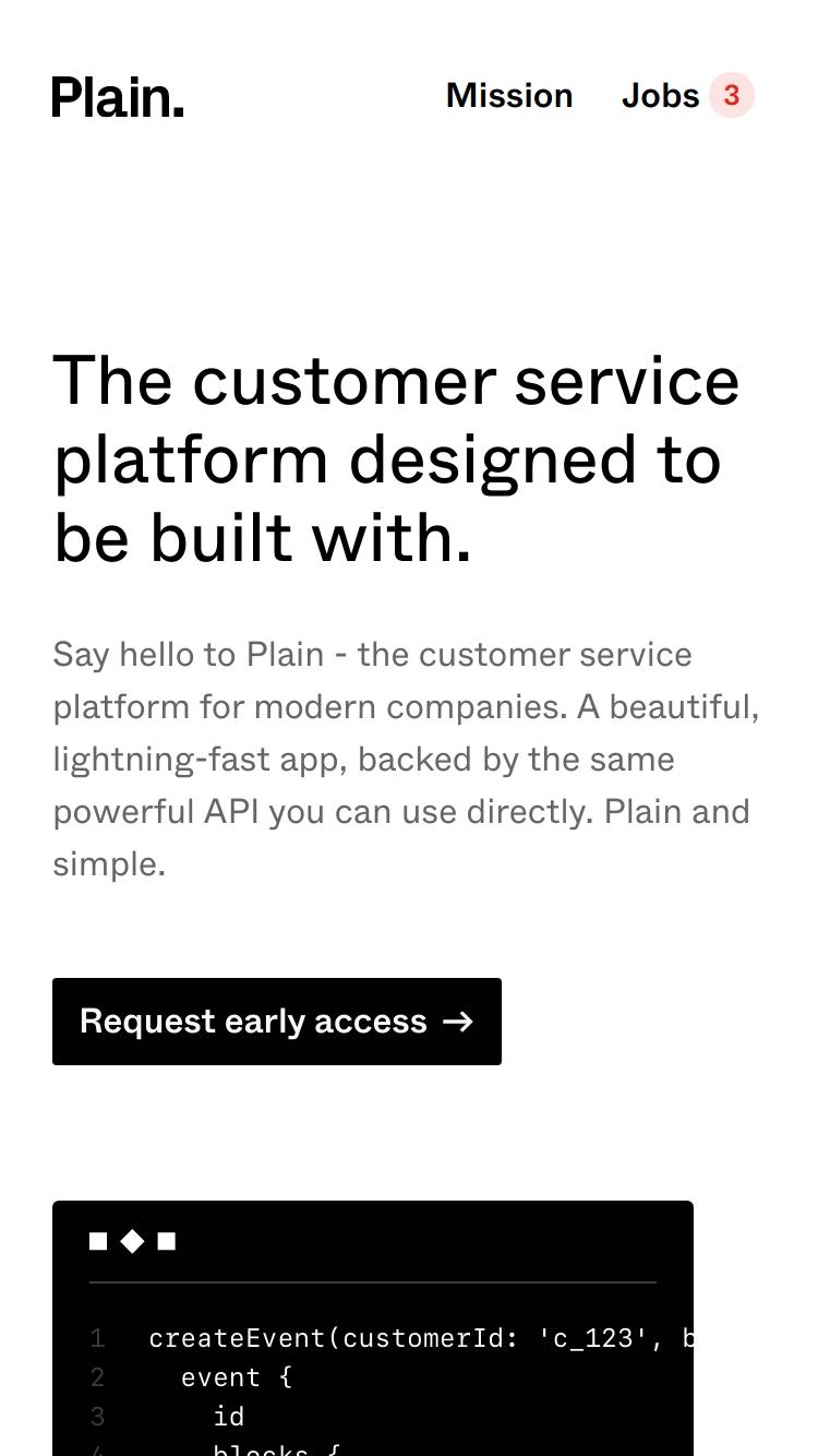 Plain website